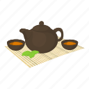 cartoon, ceremony, green, kitchen, liquid, preparation, tea ceremony icon