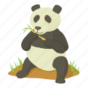 animal, bear, cartoon, head, mammal, panda, wildlife icon