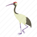 animal, bird, cartoon, chinese, chinese crane, crane, heron icon