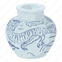 chinese, asia, souvenir, china, cartoon, chinese vase, fengshui icon