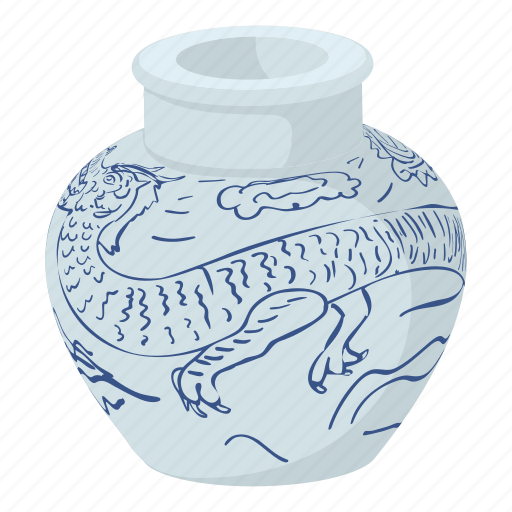 asia, cartoon, china, chinese, chinese vase, fengshui, souvenir icon