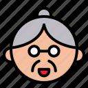 avartar, character, chinese, cny, elder, grandma icon