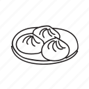 chinese, dumpling, entry, food, plate, wonton icon