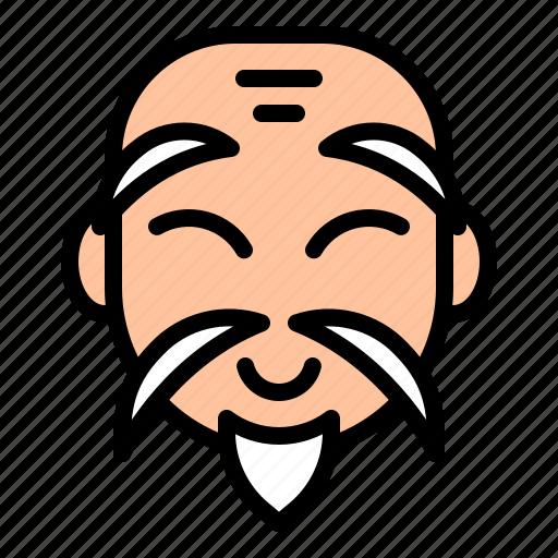 avatar, china, chinese, grandpa, older, senior icon