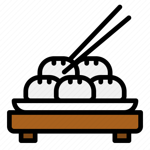 bun, china, chinese, chopsticks, dumpling, food icon