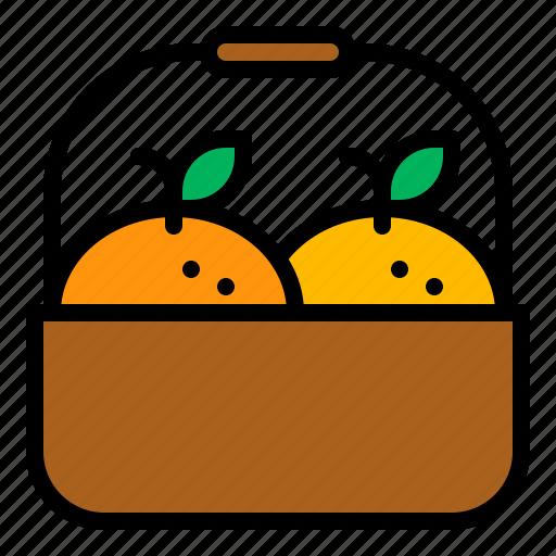 basket, chinese new year, gift, lunar new year, mandarin, orange, tangerine icon