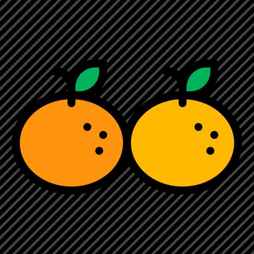 chinese, double, fruit, mandarin, orange, tangerine icon