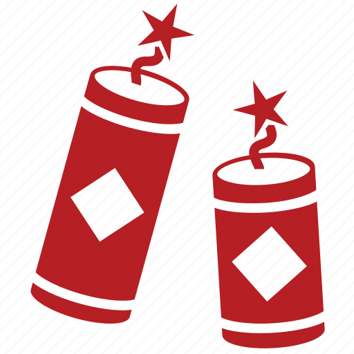 bomb, chinese, chinese new year, cracker, explosion, explosive, firecracker icon
