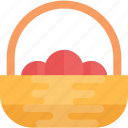 basket, fruit basket, mandarins, oranges, tangerine icon