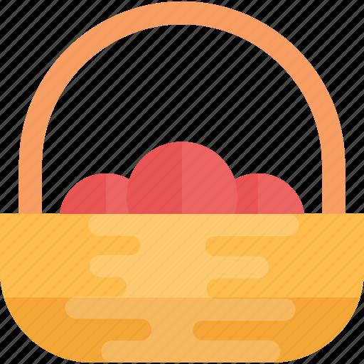 basket, fruit basket, mandarins, oranges, tangerine icon