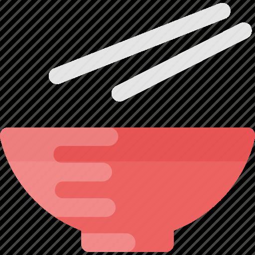 bowl, chinese sticks, chopsticks, food, steel chopsticks icon