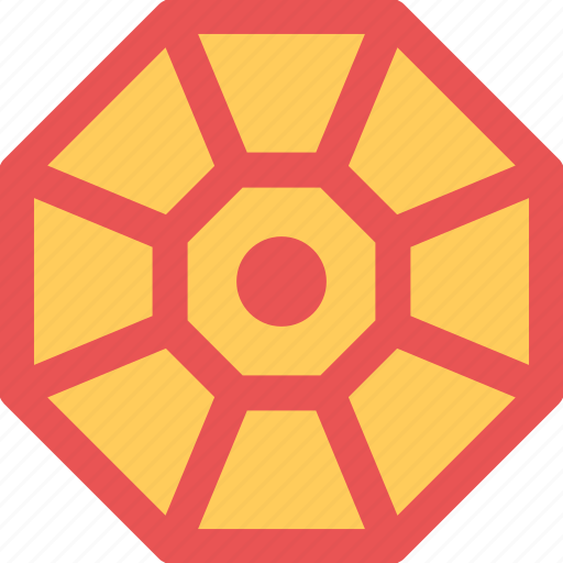 ba gua, chinese element, chinese octagon, luck symbol, trigrams icon
