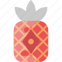 chinese lantern, decoration, pineapple lantern, red lantern, red pineapple icon