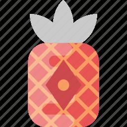 chinese lantern, decoration, pineapple lantern, red lantern, red pineapple icon