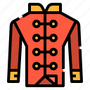 chinese, clothes, jacket, man, red, shirt