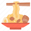 egg, noodles, pork, ramen, spaghetti, sticks, yakisoba icon