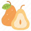 fruit, pear, vegan, vegetarian icon