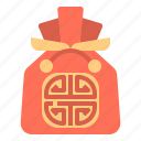 bag, china, gift, lucky, red icon