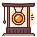alarm, asia, gong, medieval, sound