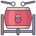 chinese, drum, festival, instrument icon