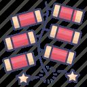 chinese, firecracker, fireworks, celebration icon