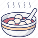 chinese, soup, balls, rice icon