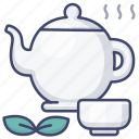 chinese, tea, teapot, cup icon