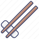 chopsticks, wooden, chinese, food icon