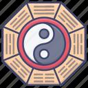 fengshui, yin, yang, chinese icon