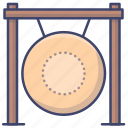 gong, instrument, percussion, chinese icon