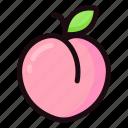 fruit, fresh, peach, sweet, juicy