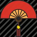 paper fan, hand fan, asian fan, china, traditional fan, asia, chinese