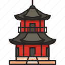 pagoda, temple, building, architecture, chinese, china, asia