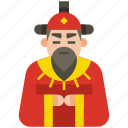 chinese, emperor, chinese emperor, king, royal, culture, traditional icon