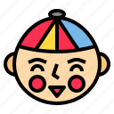 boy, celebration, chinese, culture, festival, lunar, traditional icon