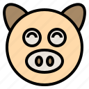 celebration, chinese, culture, festival, lunar, pig, traditional icon