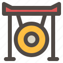 celebration, chinese new year, cymball, gong, instrument icon