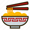 chinese new year, chopstick, food, lunar, noodles, oriental, spring festival icon