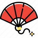 blow, china, chinese, fan, new, year icon