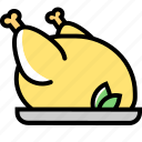 chicken, cooking, duck, food, grill, turkey icon