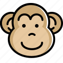 animal, chinese, mokey, monkey, of, year, zodiac icon