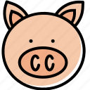 animal, chinese, of, pig, piggy, year, zodiac icon