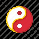 chinese, harmony, religion, spirituality, yang, yin, yin-yang icon