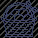 fruit, basket, chinese, orange icon