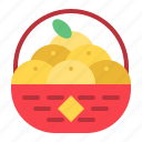 basket, chinese, chinese orange, cny, new year, orange icon
