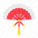 chinese, cny, fan, handheld, new year, oreintal icon