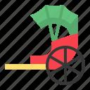 chinese, cny, new year, rickshaw, transport icon