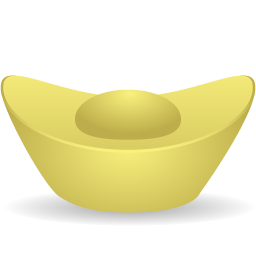 gcds, gold, ingot icon
