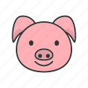 pig, zodiac, chinese, new, year, animal, filled