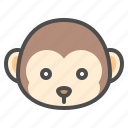 animal, chinese, monkey, zodiac icon
